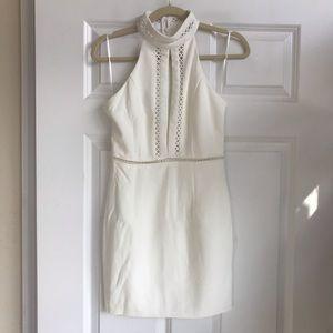 White keyhole bodycon dress